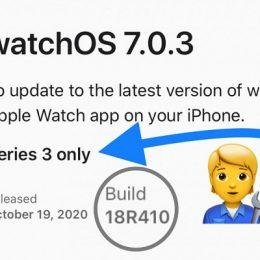 watchOS 7.0.3 software update for Apple Watch Series 3