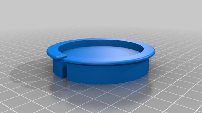 3D render of Magsafe flush mount adapter