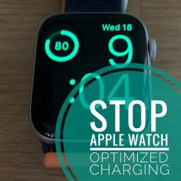 Apple Watch Optimized Battery Charging