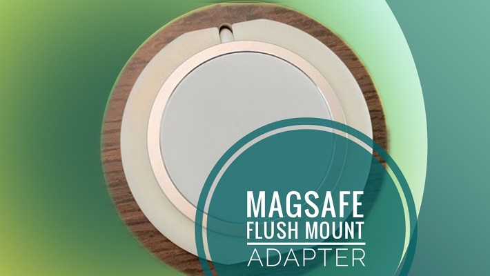 Flush Mount Adapter for iPhone MagSafe Charger