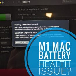 M1 Macbook Air Battery Health issue