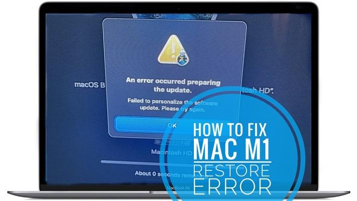 Mac M1 an error occurred preparing the update