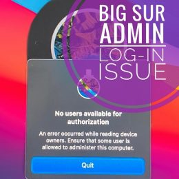 Mac Password not working in macOS Big Sur