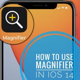 Magnifier app on Home Screen in iOS 14