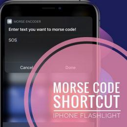 Morse Code Translator shortcut for iPhone