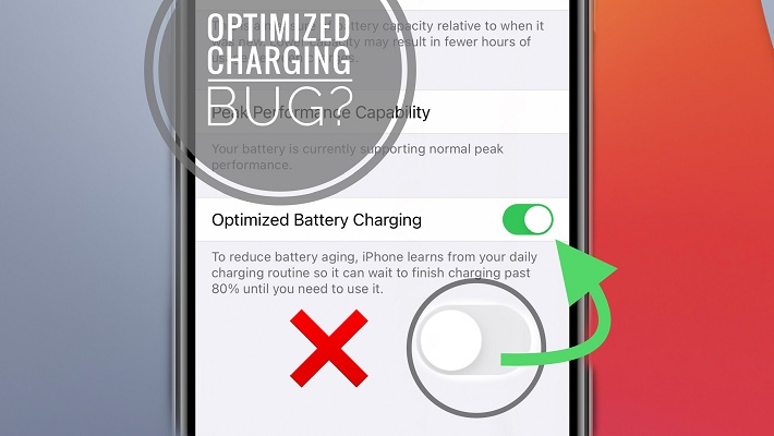 Optimized Battery Charging can't be disabled in iOS 14.2