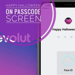 Revolut Happy Halloween greeting on Passcode Screen