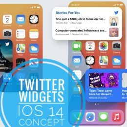 Twitter widgets for iOS 14 concept