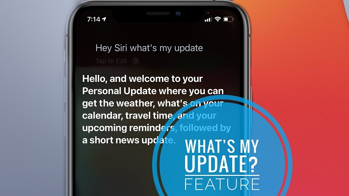 What's My Update available on iPhone