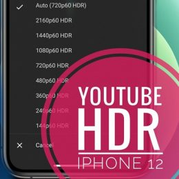 YouTube HDR support for iPhone 12