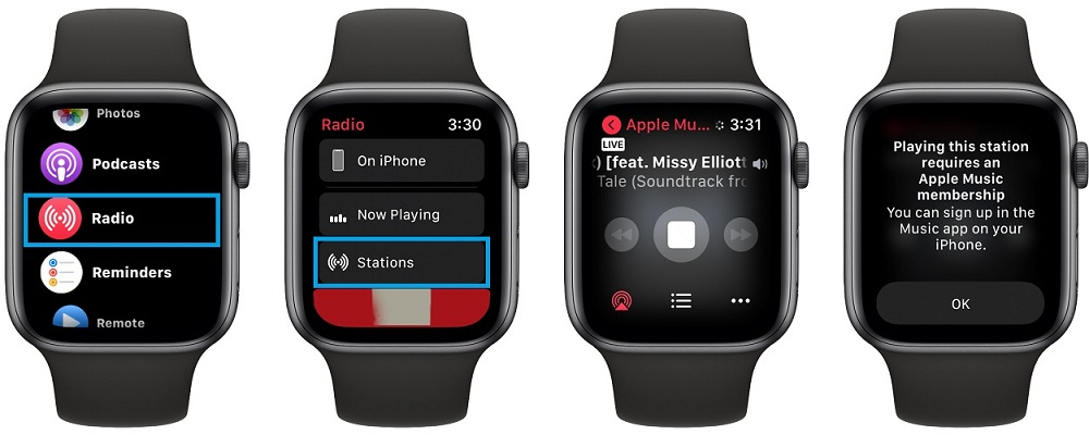 apple music radio free on apple watch