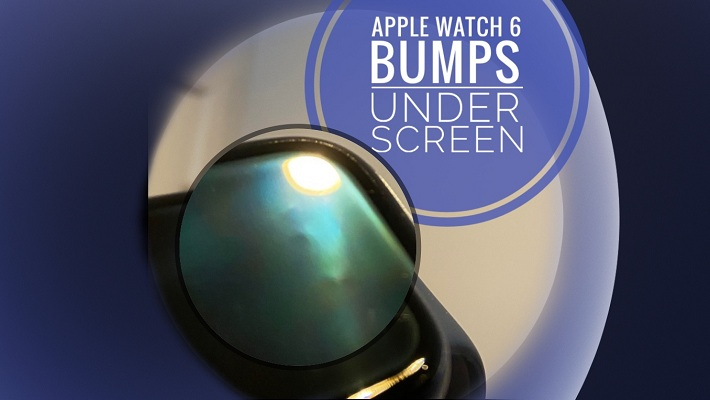 apple watch with bumps under screen