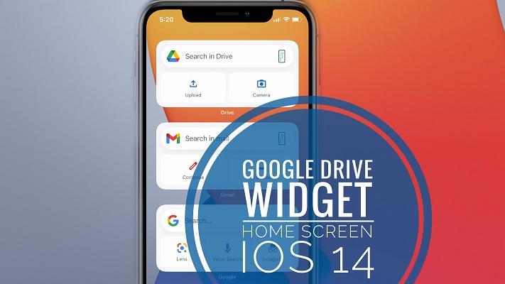 google drive widget on iPhone home screen