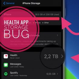 health app storage bug in iOS 14