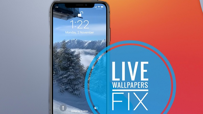 how to fix Live Wallpapers on iPhone