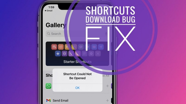 how to fix Shortcut download error in iOS 14