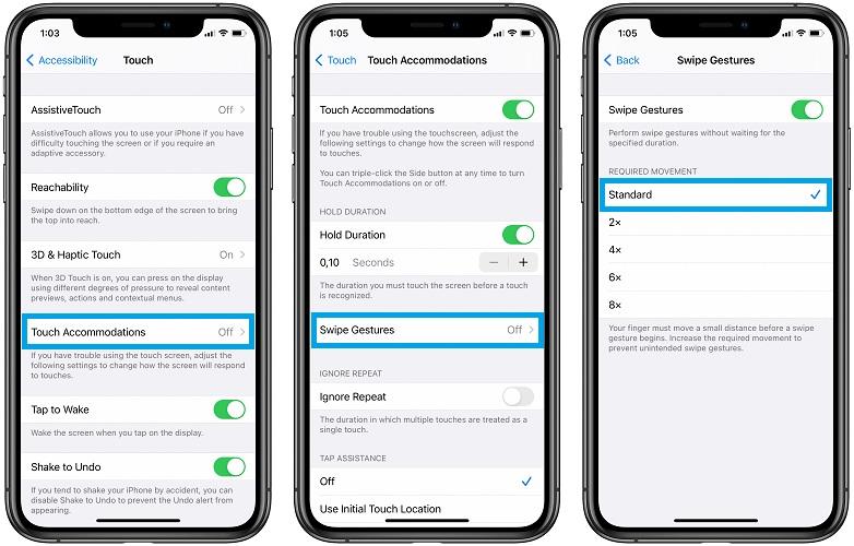how to fix iPhone 12 unresponsive swipe gestures