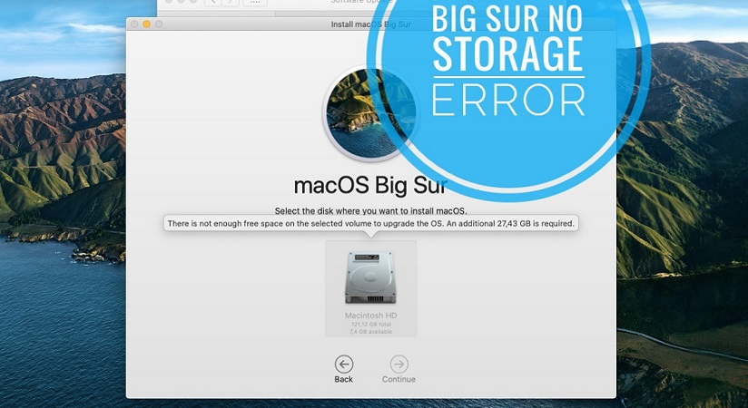 how to fix macOS Big Sur not enough storage to update