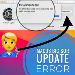 how to fix macOS Big Sur update error