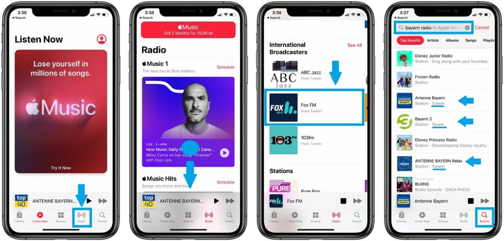 how to listen to apple music radio free