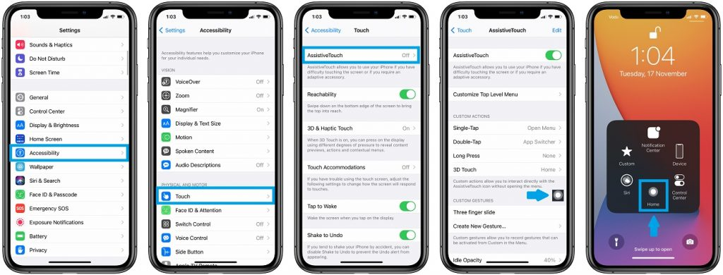 how to use assistivetouch for iphone 12 unresponsive screen