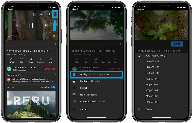 how to watch YouTube videos in HDR on iPhone 12