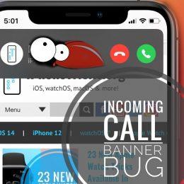 iOS 14 Incoming Call Banner Bug