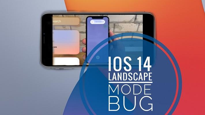iOS 14 landscape mode bug