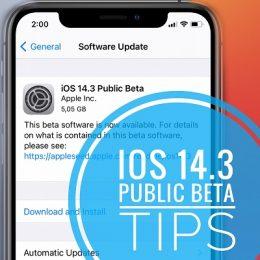 iOS 14.3 public beta features