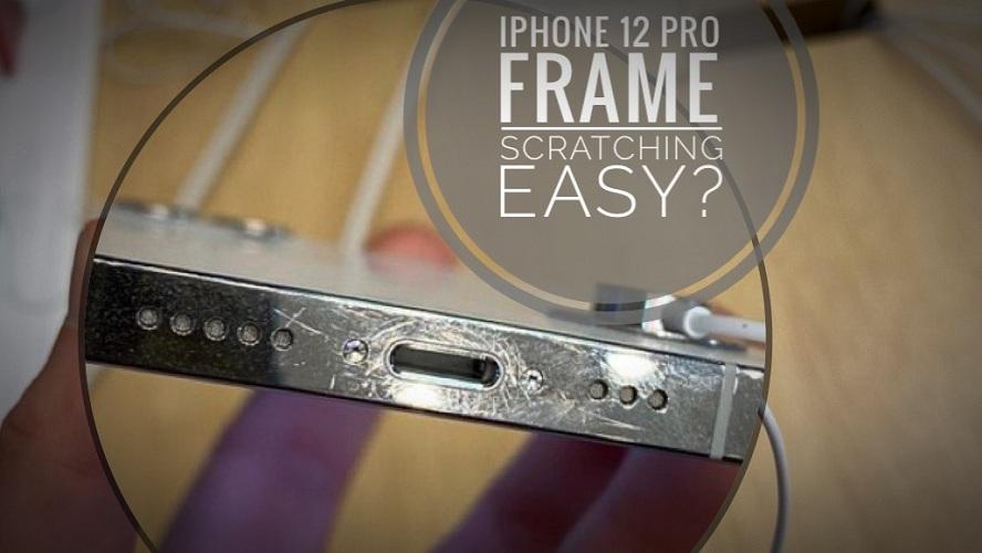 iPhone 12 Pro Frame Heavily Scratched near Lightning port