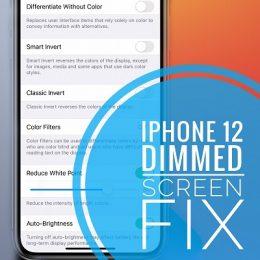iPhone 12 dimmed screen fix