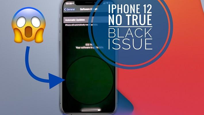 iPhone 12 display flickering bug (greenish tint)