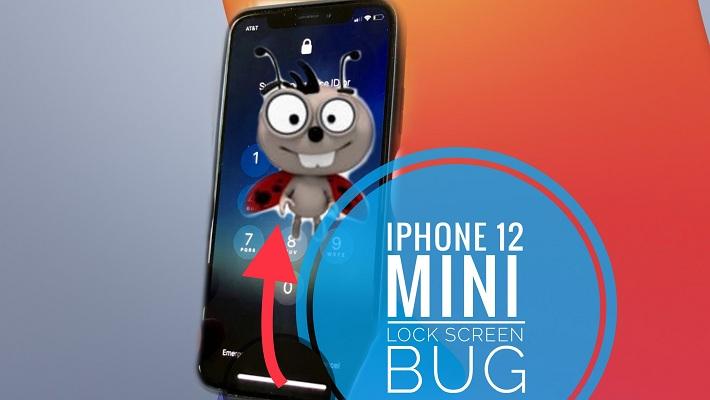 iPhone 12 mini Lock Screen bug