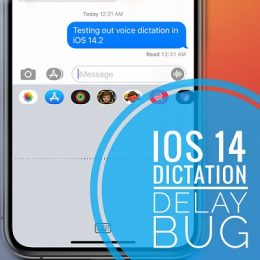 iPhone dictation lag in iOS 14