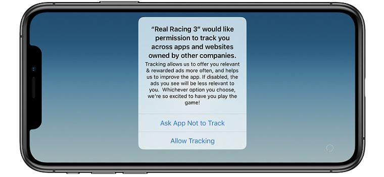 ios 14 app tracking permission popup