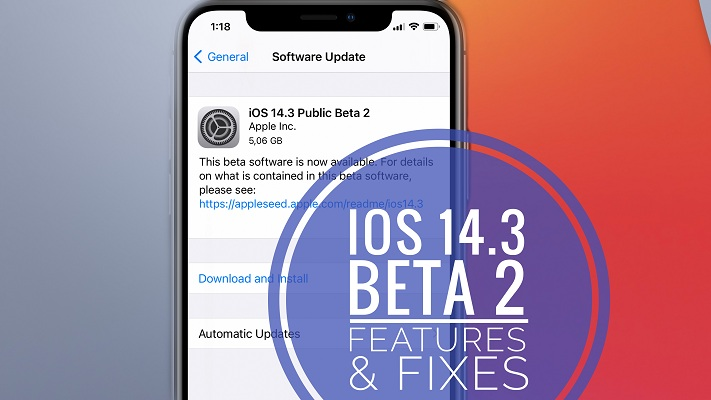 ios 14.3 beta 2 update