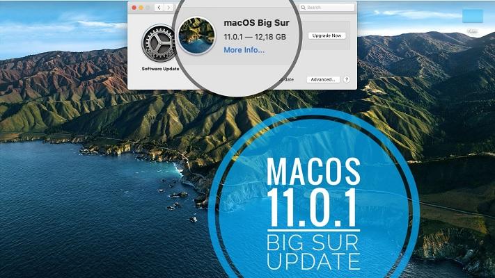macOS 11.0.1 Big Sur software update