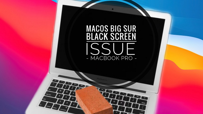 macOS Big Sur Black Screen issue