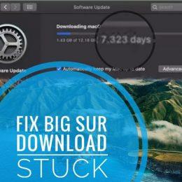 macOS Big Sur Download stuck