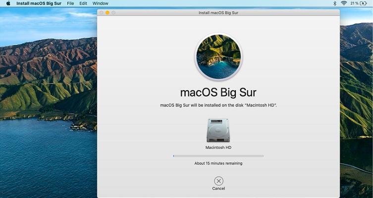 macOS Big Sur installing on Mac