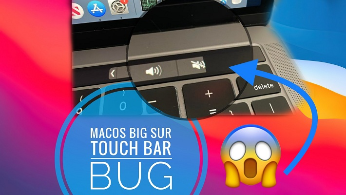 macos Big Sur Touch Bar bug
