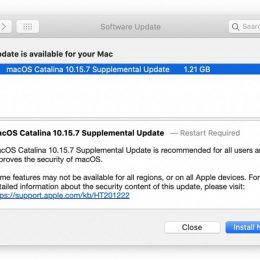 macos catalina 10.15.7 supplemental update with security fixes
