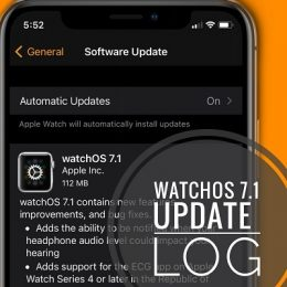 watchOS 7.1 software update screen