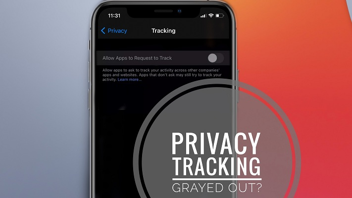 Allow Apps to Request to Track greyed out