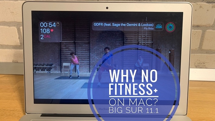 Fitness+ on MacBook Air