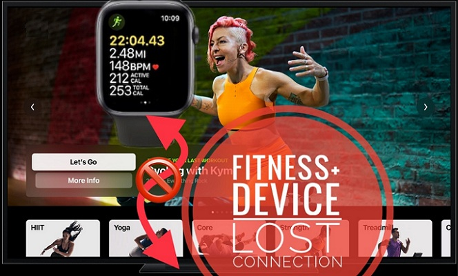 Fitness+ workout stops on Apple TV