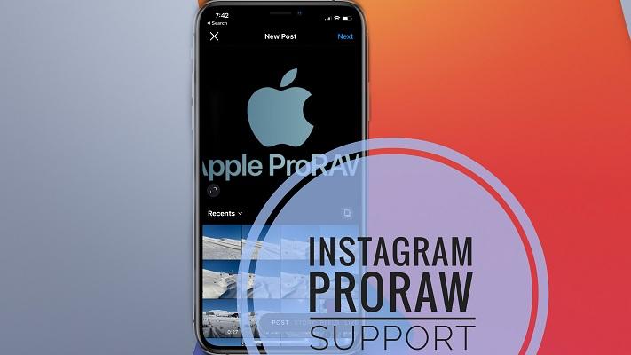 Instagram ProRaw Support