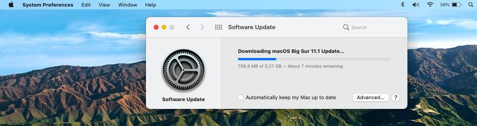 MacBook updating to macOS Big Sur 11.1