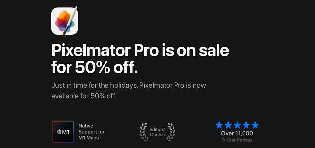 Pixelmator Pro 50% holiday sale