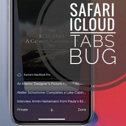 Safari iCloud tabs bug